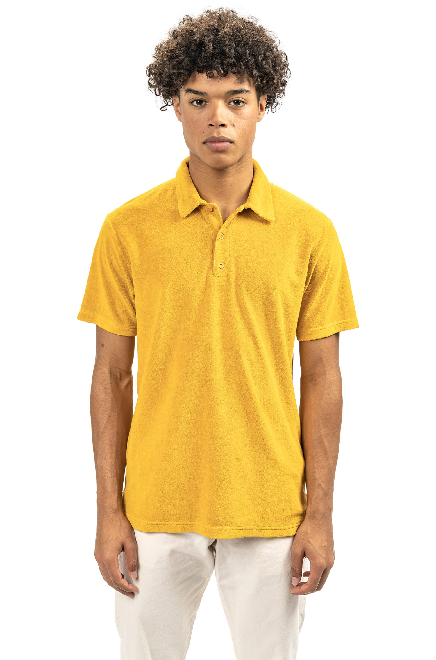 Colorful crafted Castart polos - summer polos in terry fabric - Noho Polo - Yellow