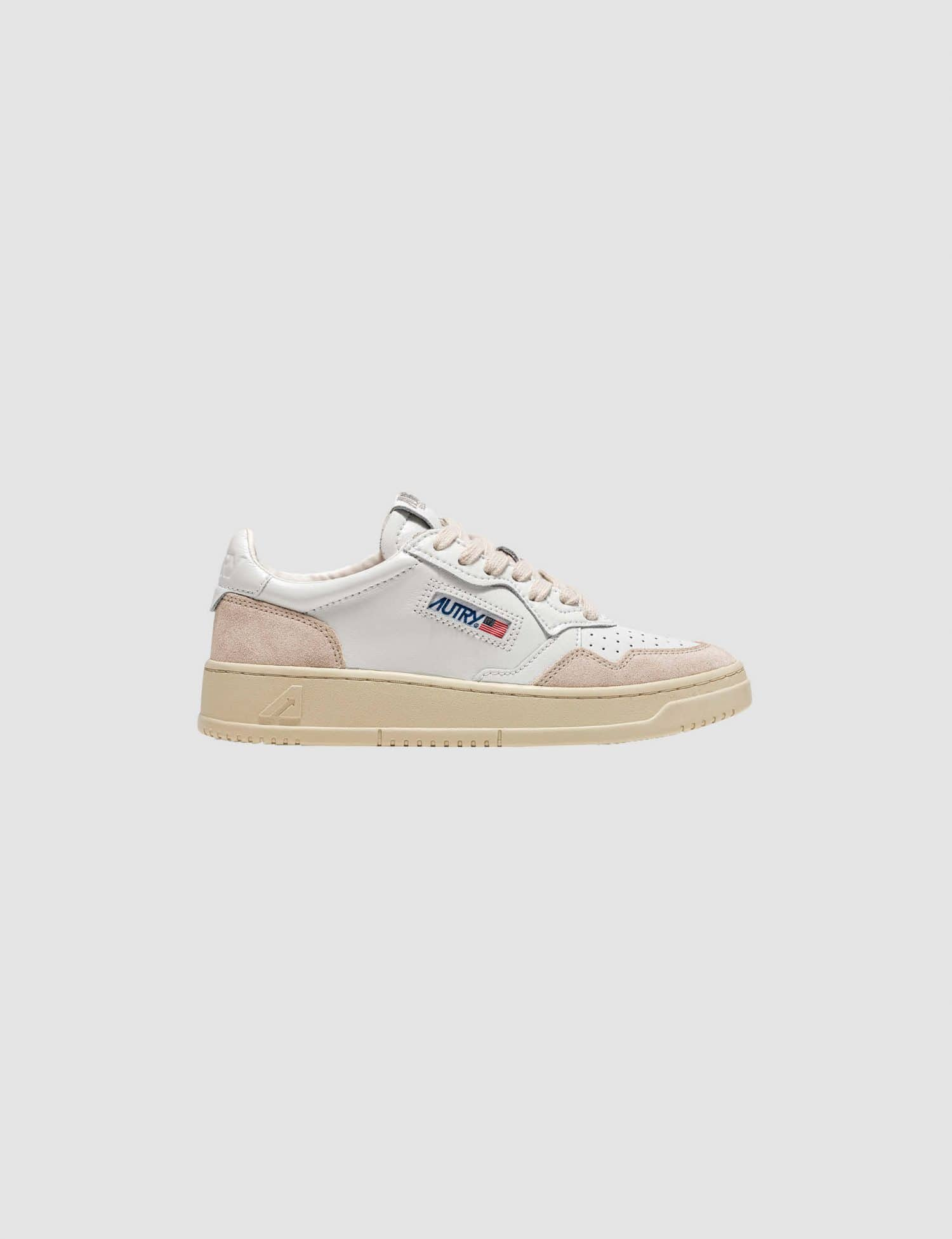 Autry - Leather Suede White