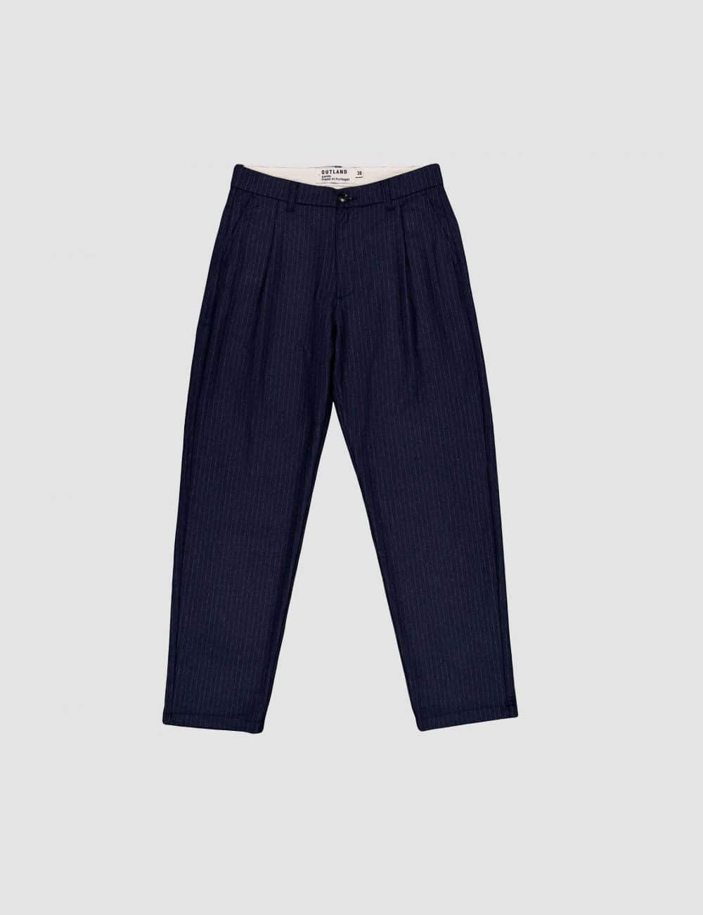 Outland - Wool pants - Navy