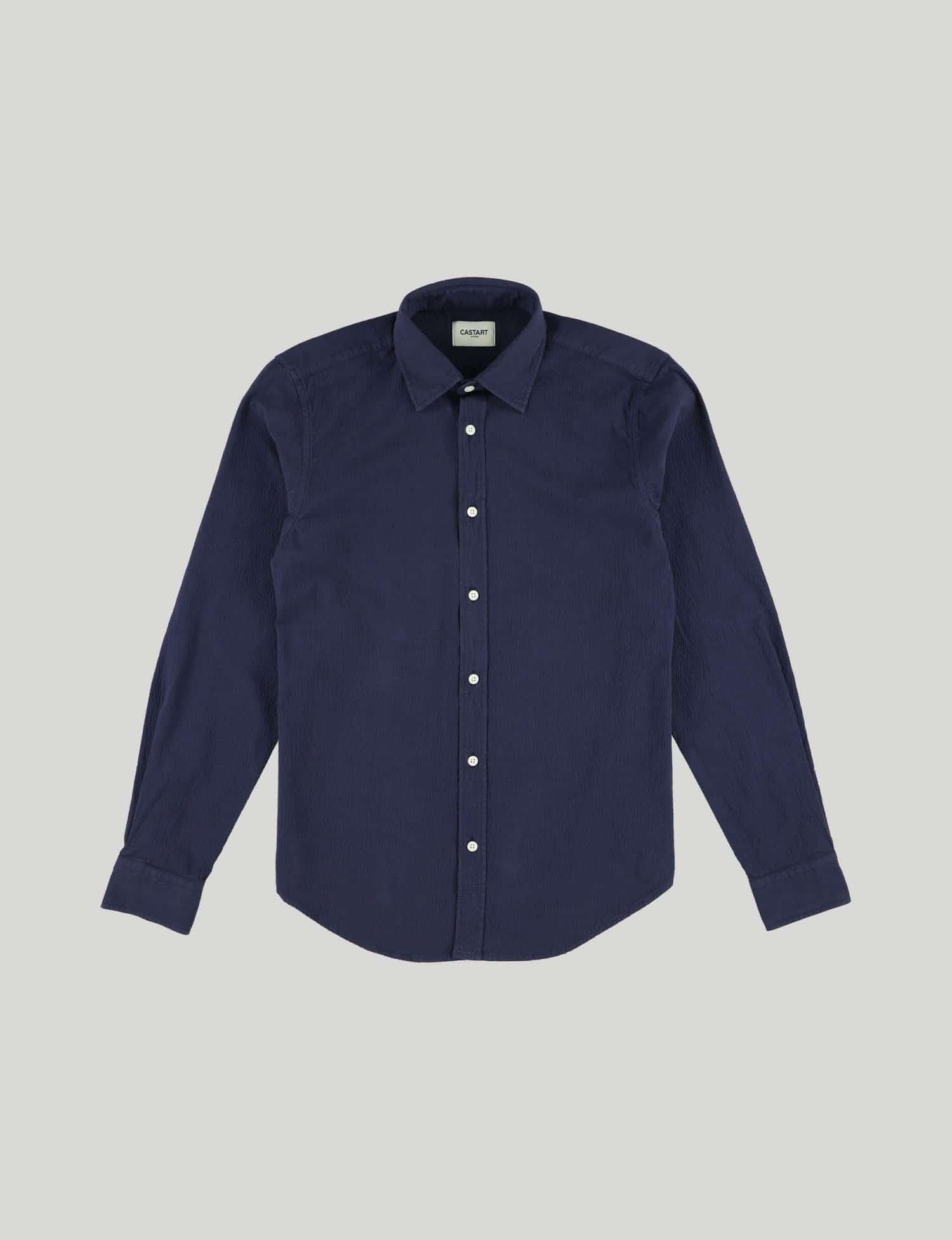 Castart - Tiger Tooth LS Shirt - Navy Blue