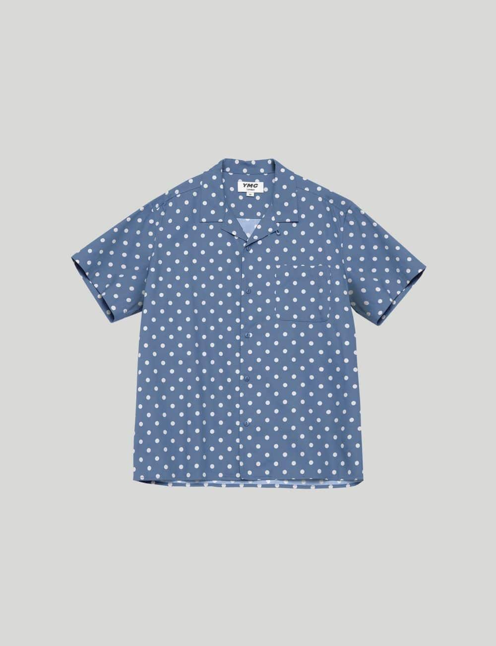 YMC - Castart - Malick Dot Print Shirt - blue
