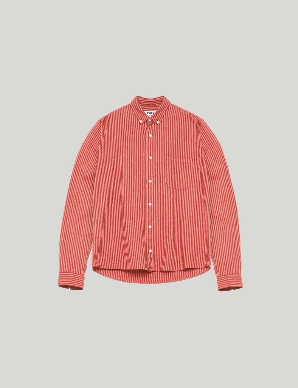 YMC - Castart - Dean Cotton Linen Shirt - Red
