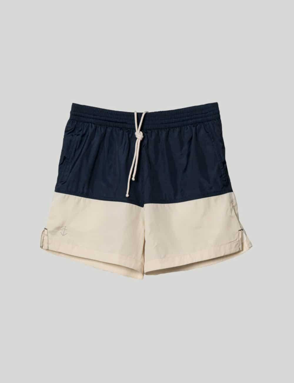 Castart - La Paz - Morais Swim Shorts - Ecru & Navy