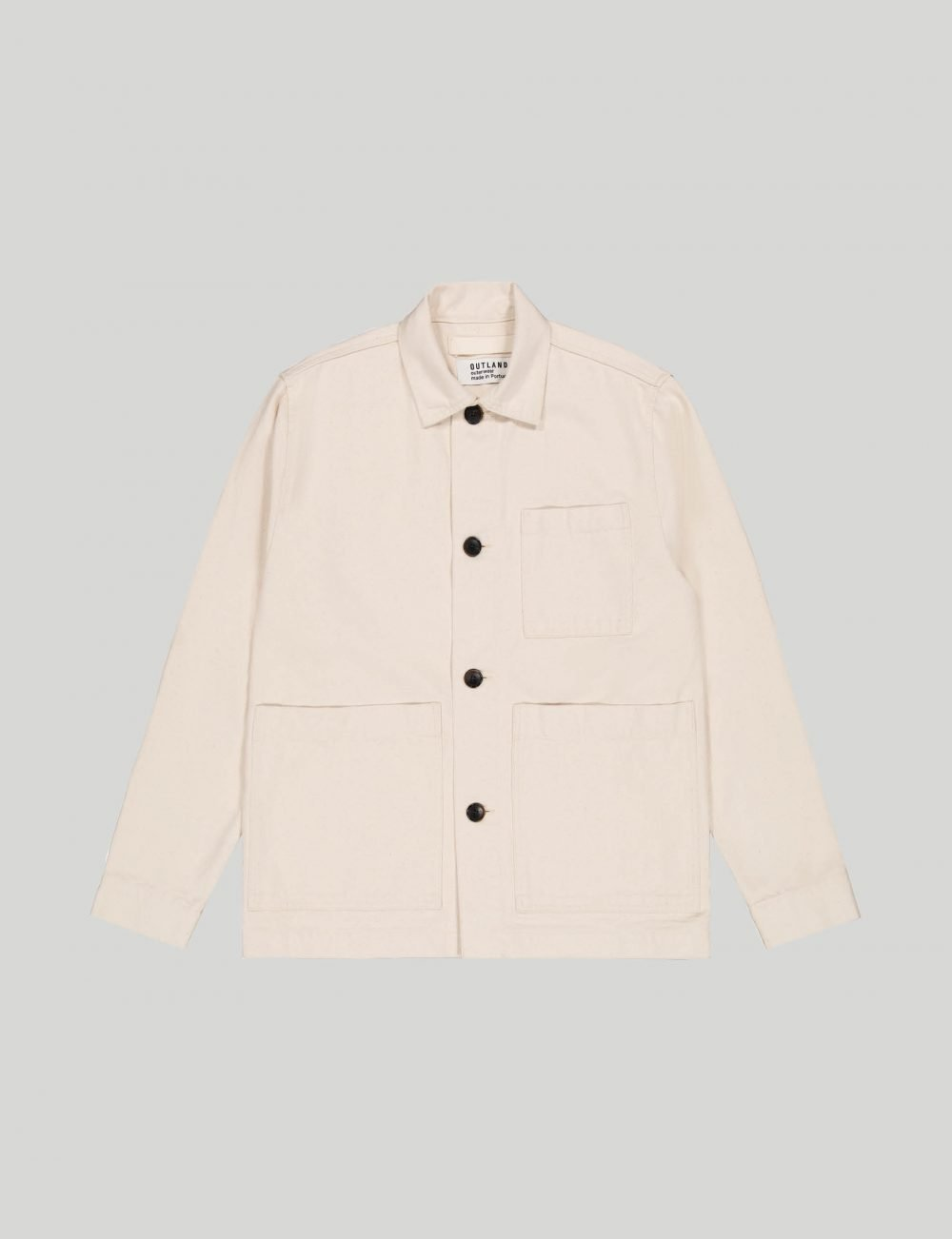 Outland - Castart - Dubliner twill overshirt - Off-white