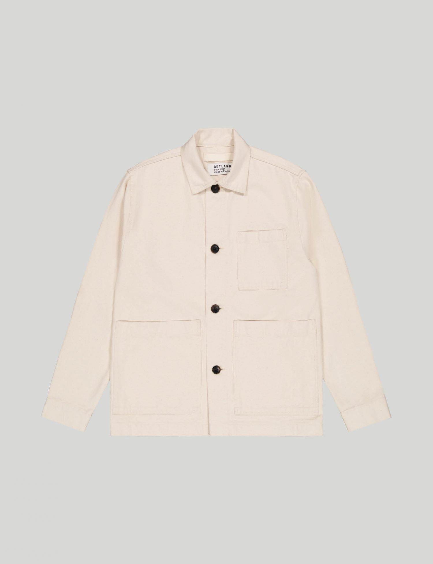 Outland - Castart - Dubliner twill overshirt - Off-white
